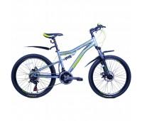 """Велосипед подростковый двухподвесный Pioneer Comandor - 24""""x15"""" 2021г"""