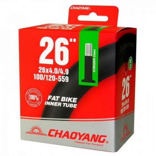 Велокамера Chaoyang 26*4.0/4.9 100/120-559 AV-48мм для Fatbike