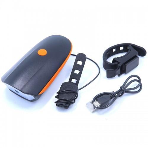 Фара с сигналом Speaker Bicycle Light HJ-7588 USB