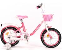 "Велосипед детский Canary 14"" pink-white"
