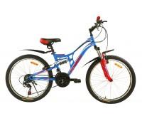 """Велосипед подростковый двухподвесный Pioneer Forsage - 24""""x13"""""""